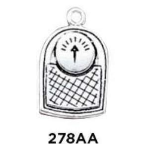 Bathroom Scales Charm Sterling Silver - Fine Gifts La Bella Basket Company