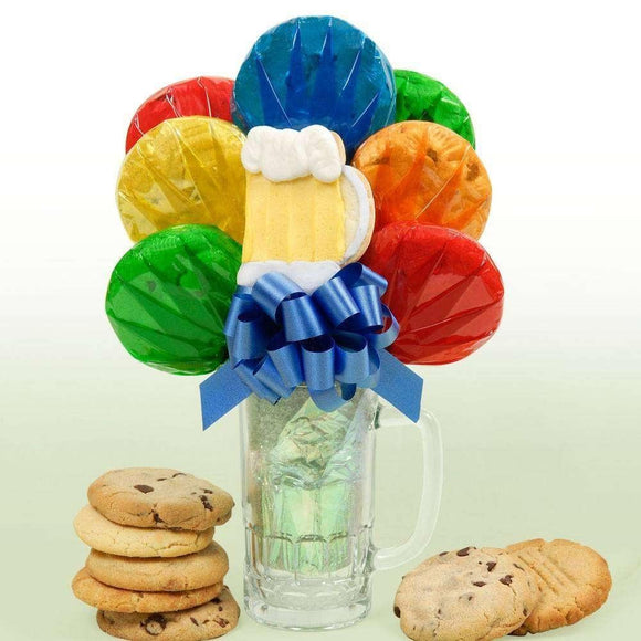 Beer Mug Cookie Bouquet - Fine Gifts La Bella Basket Company