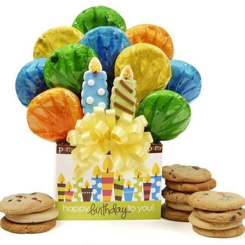 Birthday Box Cookie Bouquet - Fine Gifts La Bella Basket Company