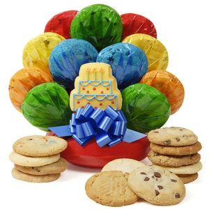 Birthday Cake Cookie Bouquet - Fine Gifts La Bella Basket Company