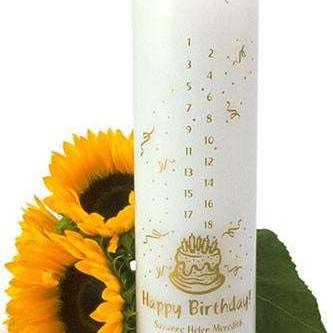Birthday Countdown Personalized Candle - Fine Gifts La Bella Basket Company