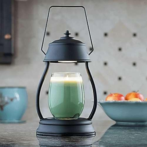 Black Hurricane Lantern Candle Warmer - Fine Gifts La Bella Basket Company