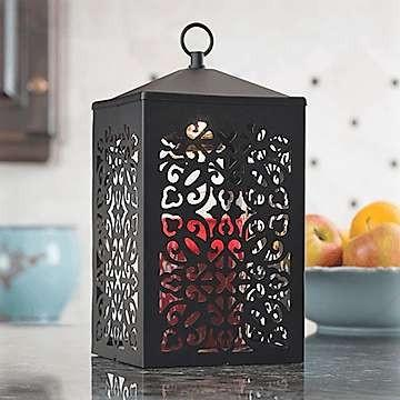Black Scroll Lantern Candle Warmer - Fine Gifts La Bella Basket Company
