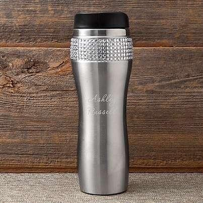 Bling Travel Tumbler - Personalized - Fine Gifts La Bella Basket Company