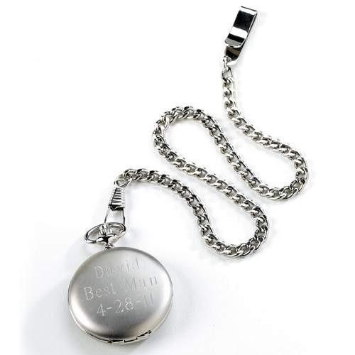 Brushed Pocket Watch - Fine Gifts La Bella Basket Company