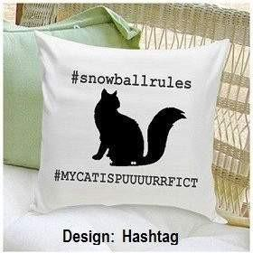 Cat Silhouette Throw Pillow - Fine Gifts La Bella Basket Company