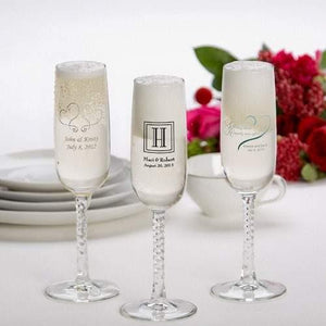 Champagne Flutes - 24 Printed Pieces - Design Set 3 - Fine Gifts La Bella Basket Company