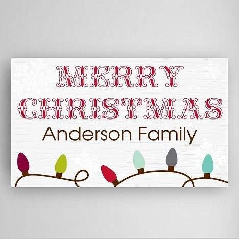 Christmas Lights Canvas Sign - Fine Gifts La Bella Basket Company