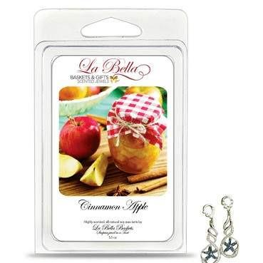 Cinnamon Apple Jewelry Tart Melts - What could be warmer and a more relaxing scent than that of Cinnamon Apples for your home! This scent would be best described as a baked apple with ground cinnamon sprinkled on top of it.