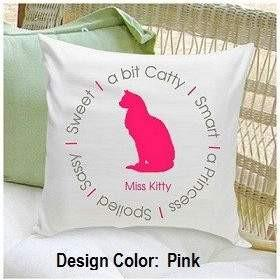 Circle of Love Cat Throw Pillow - Fine Gifts La Bella Basket Company