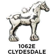 Clydesdale Horse Charm - Sterling Silver - Fine Gifts La Bella Basket Company