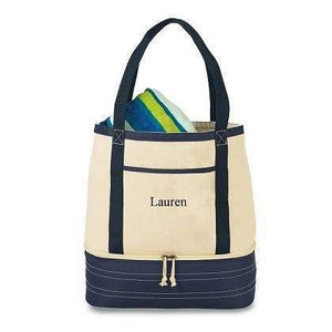 Coastal Cotton Insulated Tote - Fine Gifts La Bella Basket Company