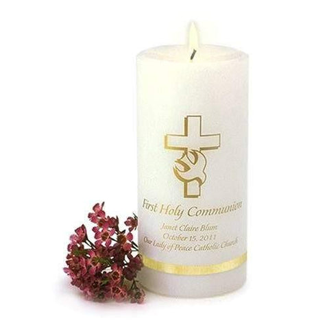 Communion Candle - Fine Gifts La Bella Basket Company
