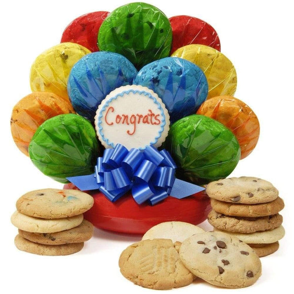 Congratulations Cookie Bouquet - Fine Gifts La Bella Basket Company