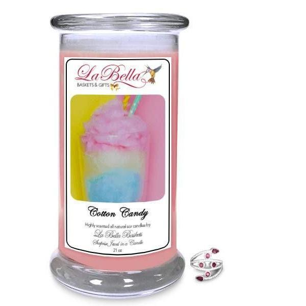 Cotton Candy Jewelry Candles - Fine Gifts La Bella Basket Company