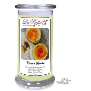 Creme Brulee Jewelry Candle - Fine Gifts La Bella Basket Company