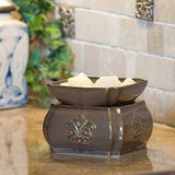 Toffee Damask 2-in-1 Candle Warmer - Fine Gifts La Bella Basket Company