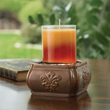 Damask Toffee 2-in-1 Candle Warmer - Fine Gifts La Bella Basket Company