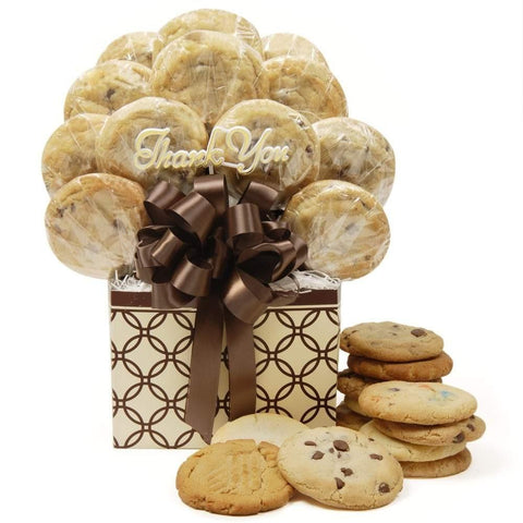 Decorative Rings Thank You Cookie Bouquet - Fine Gifts La Bella Basket Company