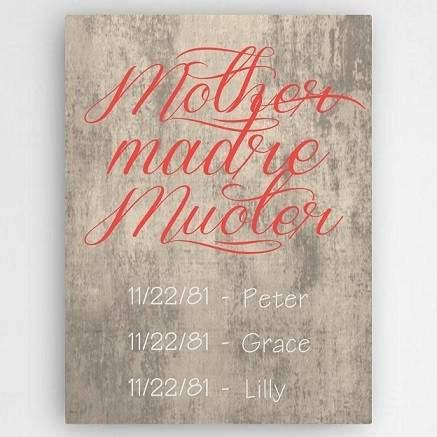 Definition of A Mother Canvas Sign Beige - Fine Gifts La Bella Basket Company