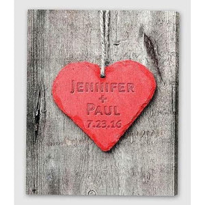 Embossed Heart Canvas Sign - Fine Gifts La Bella Basket Company