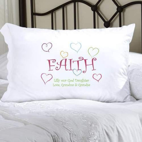 Faithful Pillow Case - Fine Gifts La Bella Basket Company