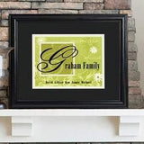 Family Name Framed Print in 6 Colors - Fine Gifts La Bella Basket Company