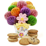 Fancy Flower Cookie Bouquet - Fine Gifts La Bella Basket Company