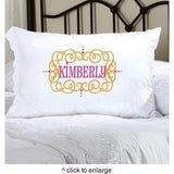 Felicity Glamour Girl Pillow Case - Fine Gifts La Bella Basket Company