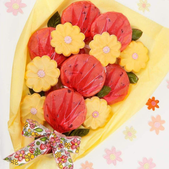 Floral Luscious Longstems Cookie Bouquet - Fine Gifts La Bella Basket Company