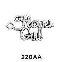 Flower Girl Word Charm Sterling Silver - Fine Gifts La Bella Basket Company