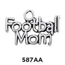 Football Mom Word Charm - Fine Gifts La Bella Basket Company