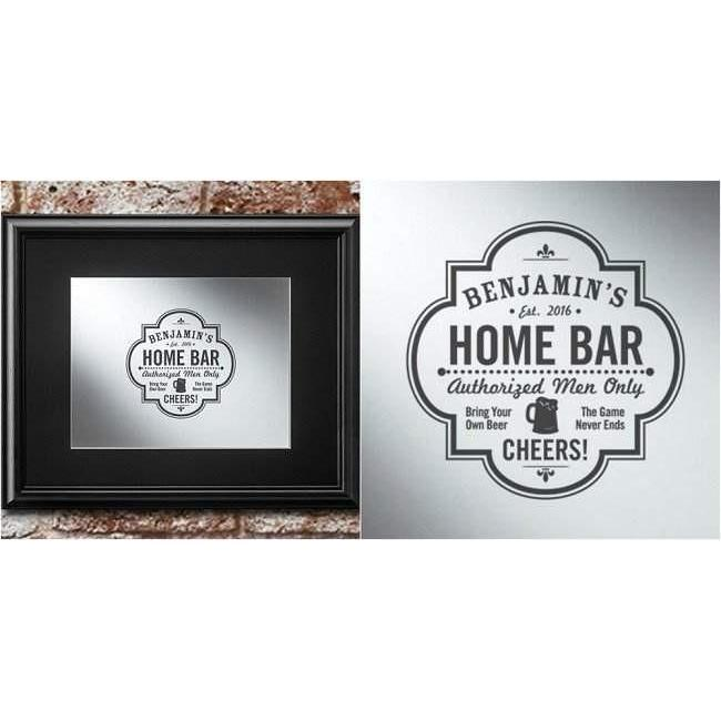 Framed Bar Mirror - Fine Gifts La Bella Basket Company