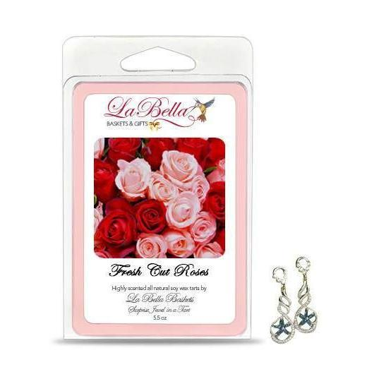 Fresh Cut Roses Jewelry Soy Wax Jumbo Tart Melts - Fine Gifts La Bella Basket Company