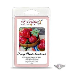 Freshly Picked Strawberries Jewelry Tart Melts - Fine Gifts La Bella Basket Company