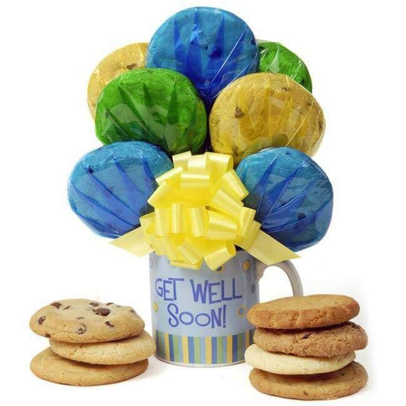 Get Well Cookie Bouquet Mug - Fine Gifts La Bella Basket Company