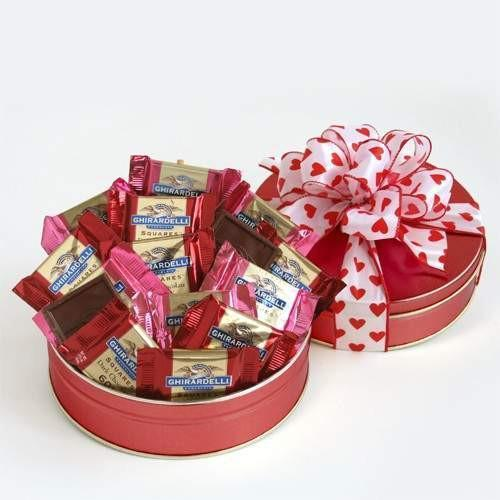 Ghirardelli Chocolate Lovers Valentines Surprise - Fine Gifts La Bella Basket Company