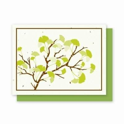 Ginkgo Plantable Greeting Cards 4Pk - Fine Gifts La Bella Basket Company