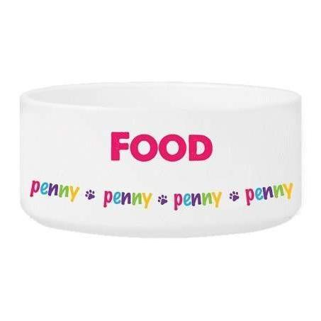 Girl Pet Food or Water Bowls - Fine Gifts La Bella Basket Company