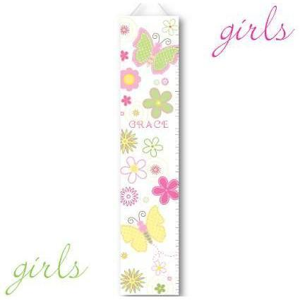 Girls Canvas Height Chart - 26 Designs - Fine Gifts La Bella Basket Company