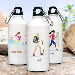 Go-Girl Personalized Water Bottle - Fine Gifts La Bella Basket Company