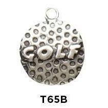 Golf Word on Ball Charm - Fine Gifts La Bella Basket Company