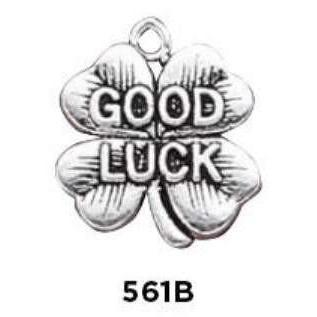 Good Luck Four Leaf Clover Charm Sterling Silver - Fine Gifts La Bella Basket Company
