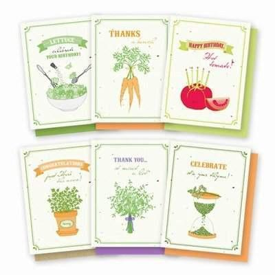 Gourmet Garden Plantable Greeting Cards - 6 Pack