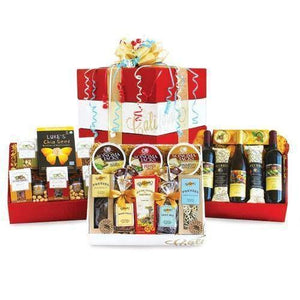 Grand Celebration Wine, Cheese and Gourmet - Fine Gifts La Bella Basket Company