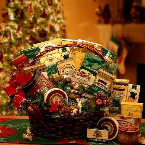 Grand Gatherings Holiday Large Gourmet Gift Basket - Fine Gifts La Bella Basket Company