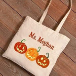 Halloween Canvas Tote - Fine Gifts La Bella Basket Company