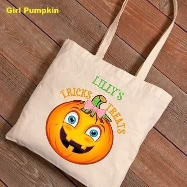 Halloween Trick or Treat Canvas Bag - Fine Gifts La Bella Basket Company