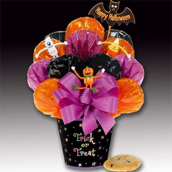 Halloween Trick Or Treat Cookie Bouquet - Fine Gifts La Bella Basket Company