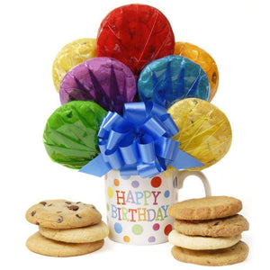 Happy Birthday Cookie Bouquet - Fine Gifts La Bella Basket Company
